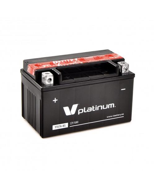 Аккумулятор YTX7A-BS VPlatinum YTX7A-BS 6Ah, 105CCA, 0,33 LITR ACID, 2,6 KG ОБЩИЙ ВЕС, 150x87x94 +/-