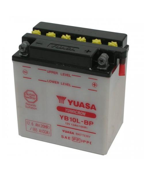 Аккумулятор YB10L-BP YUASA YB10L-BP 12Ah, 165CCA, 0,8 LITR ACID, 4,0 KG ОБЩИЙ ВЕС, 135x90x145 -/+