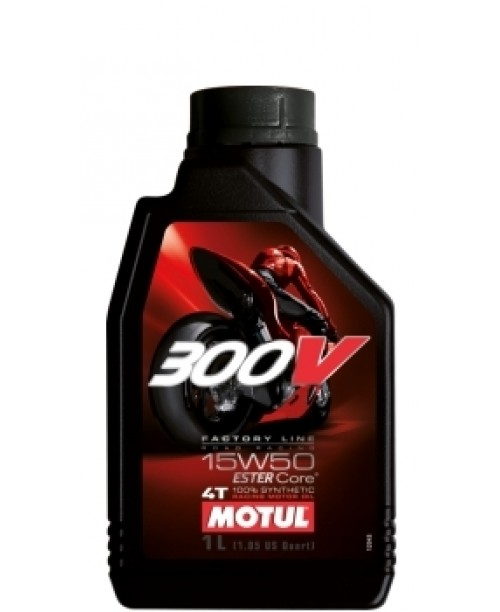 Масло MOTUL 4T Motul 300V Factory Line Racing Oil 15W50 1 литр