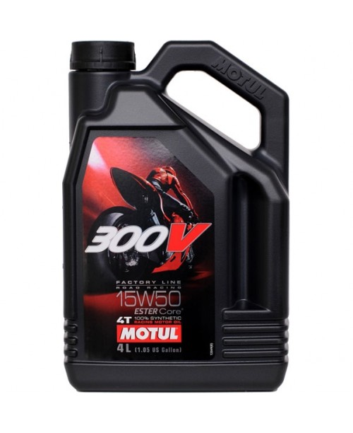 Масло MOTUL 4T Motul 300V Factory Line Racing Oil 15W50 4 литра