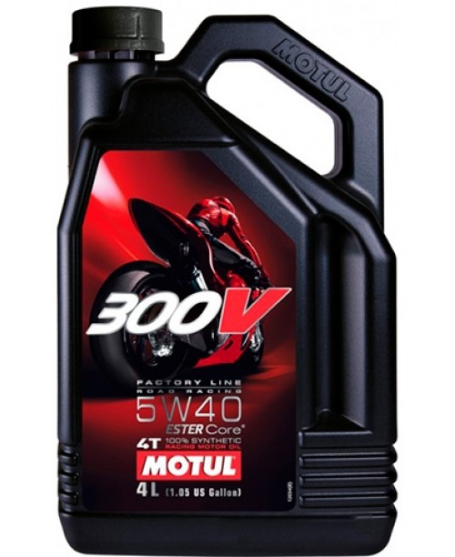 Масло MOTUL 4T Motul 300V Factory Line Racing Oil 5W40 4 литра