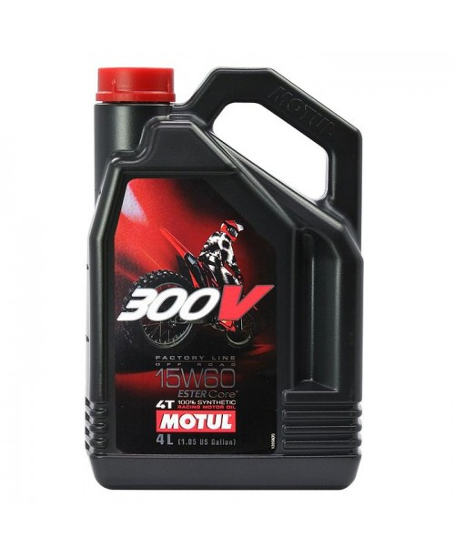 Масло MOTUL 4T Motul 300V OFF ROAD Factory Line 15W60 4 литра