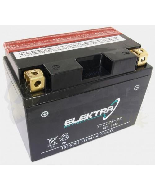 Аккумулятор TTZ12S-BS ELEKTRA TTZ12S-BS 11Ah, 210CCA, 3,7 KG ОБЩИЙ ВЕС,  150x87x110 +/-