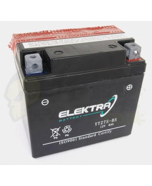 Аккумулятор TTZ7S-BS ELEKTRA TTZ7S-BS 6Ah, 130CCA, 2,1 KG ОБЩИЙ ВЕС, 113x70x105 -/+