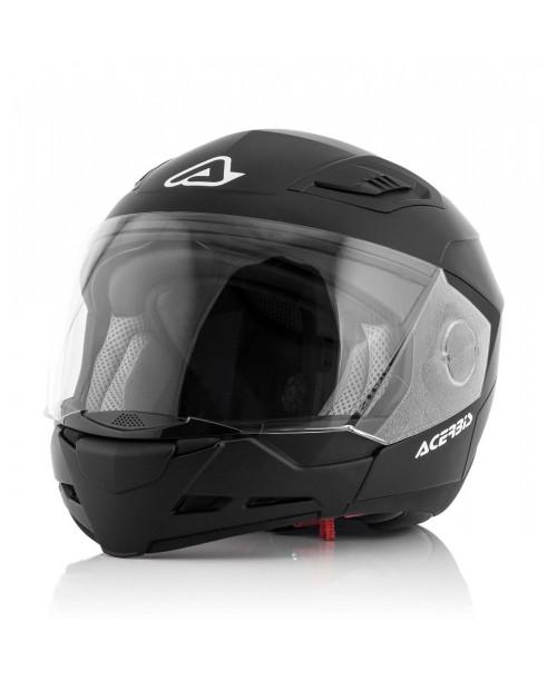Шлем ACERBIS CROSSOVER  STRATOS 2 / Черный / разм XL