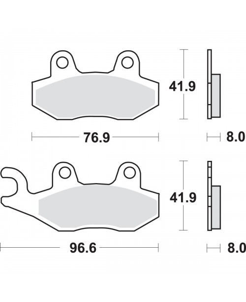 Тормозные колодки SBS 197MS Suzuki Burgman 400 06-13