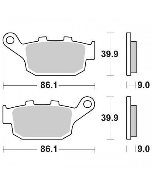 Тормозные колодки SBS 881LS Honda NC X 750, Kawasaki KLE 650