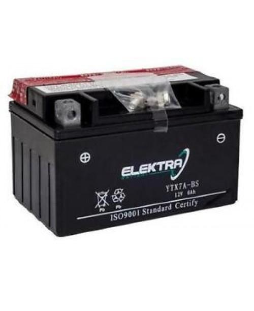 Аккумулятор YTX7A-BS ELEKTRA 6Ah, 105CCA, 0,33 LITR ACID, 2,6 KG ОБЩИЙ ВЕС, 150x87x94 +/-