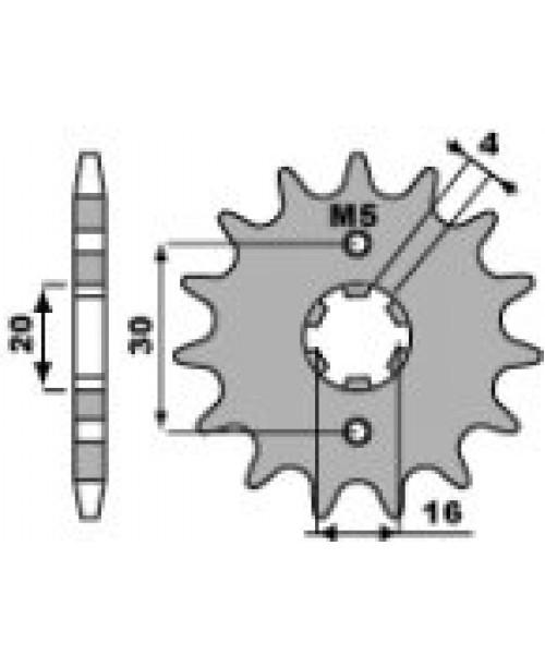 Звезда Приводная передняя PBR  YAMAHA 125 YBR C.428 14Z