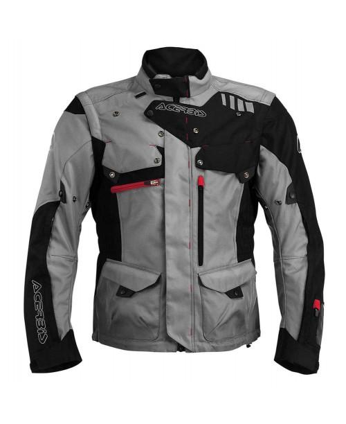 Куртка ACERBIS ADVENTURE цвет: серый/черный, размер: XXXL