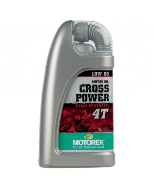 Масло MOTOREX 4T 10W50 CROSS POWER  JASO MA2 1l