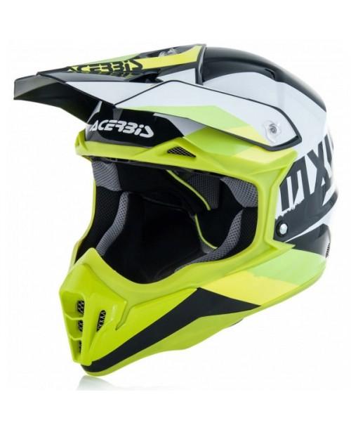 Шлем ACERBIS IMPACT 3,0 бел/зел, разм: XL