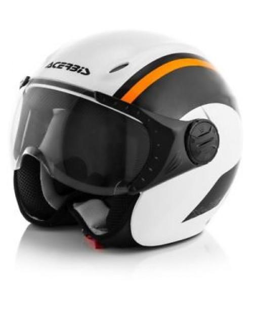 Шлем ACERBIS K-JET N. Белый/Оранж S