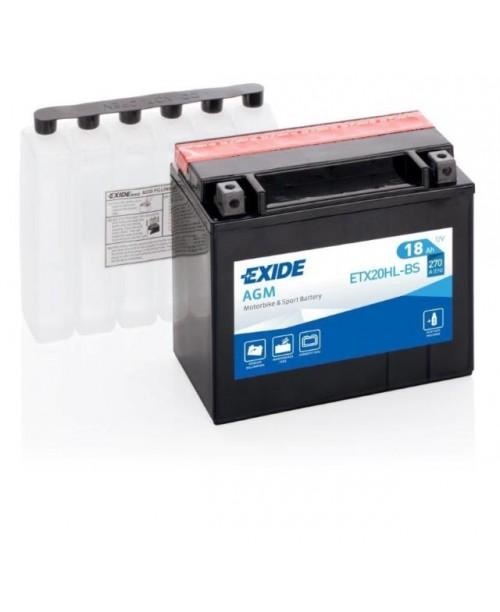 Аккумулятор YTX20HL-BS EXIDE 18Ah, 310CCA, 0,93LITR ACID, 6,3 KG ОБЩИЙ ВЕС, 175x87x155 -/+