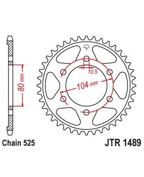 Звезда приводная задняя Kawasaki JTR1489.40ZBK