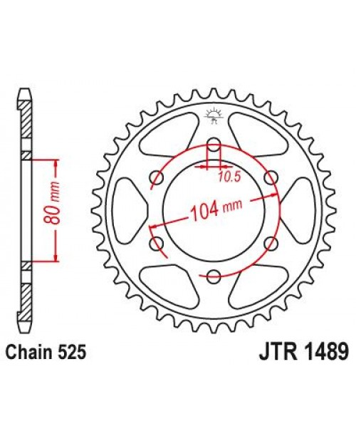 Звезда приводная задняя Kawasaki JTR1489.42ZBK