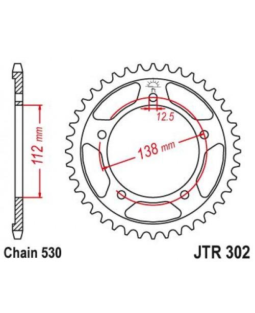 Звезда приводная задняя Honda CBR1100 97-07 JTR302.44ZBK