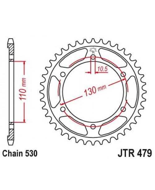 Звезда приводная задняя JTR479.48ZBK