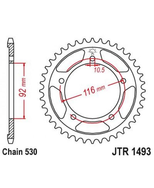Звезда Приводная задняя Kawasaki JTR1493.41