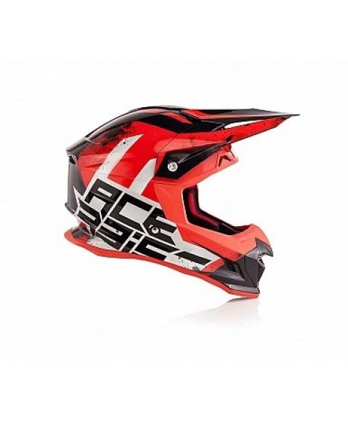 Шлем ACERBIS PROFILE 4 Cross, красно/белый, разм:   S