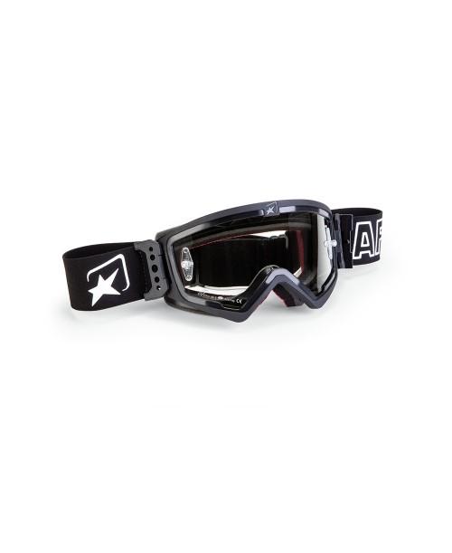 Очки кроссовые ARIETE MUDMAX BLACK / CLEAR LENS WITH