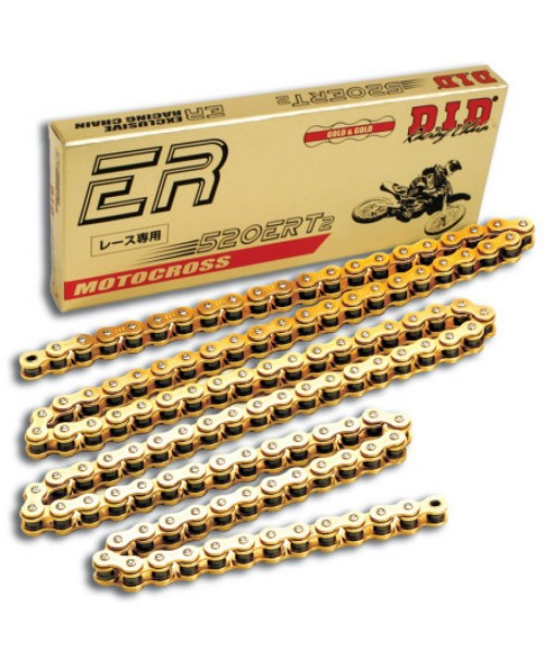 Цепь приводная DID 520 ERT3 Gold&Gold (цена за 1 звено)