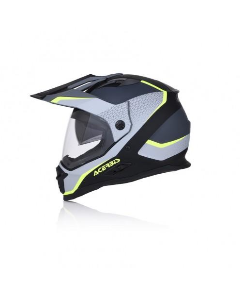 Шлем ACERBIS Reactive Graffix,  цвет  черн/серый,  разм L