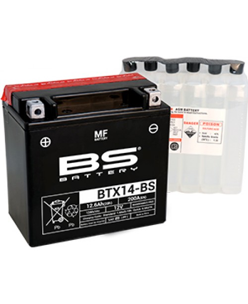 Аккумулятор YTX14-BS BS BATTERY BS-BTX14-BS