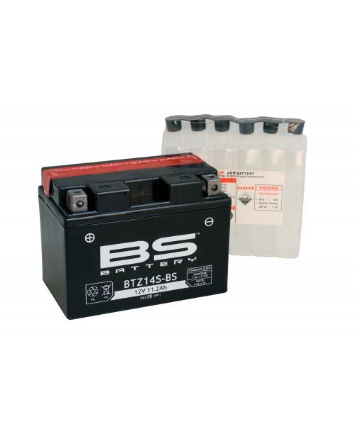 Аккумулятор TTZ14S BS BATTERY BS-BTZ14S-BS 11,2Ah, 230CCA, 3,9 KG ОБЩИЙ ВЕС,  150x87x110 +/-