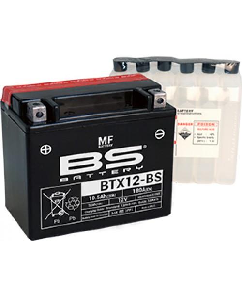 Аккумулятор YTX12-BS BS BATTERY BS-BTX12-BS 10Ah, 180CCA, 0,6 LITR ACID, 4,2 KG ОБЩИЙ ВЕС,  150x87x130 +/-