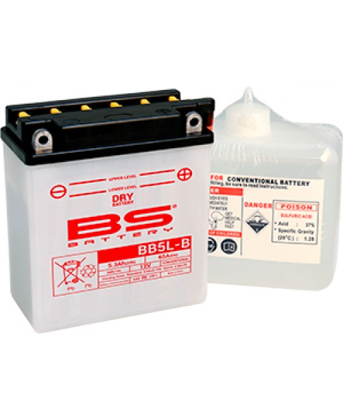 Аккумулятор YB5L-B BS BATTERY BS-BB5L-B аналог 12N5-3B Delta/Alpha