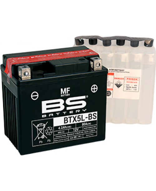 Аккумулятор YTX5L-BS BS BATTERY BS-BTX5L-BS