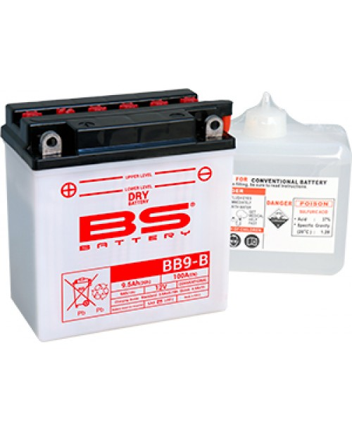 Аккумулятор YB9B BS BATTERY BS-BB9-B 12N9-4B-1