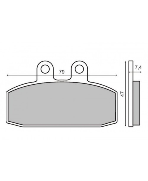 Тормозные колодки HONDA BALI 50  O716