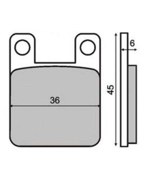 Тормозные колодки BREMBO SYSTEM O722