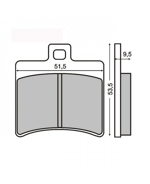 Тормозные колодки SCARABEO 125CC A071 MBC710