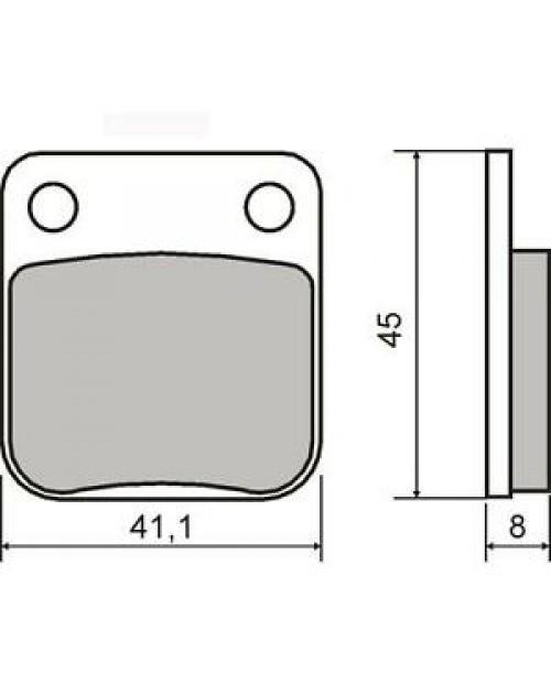Тормозные колодки CG 125 04>