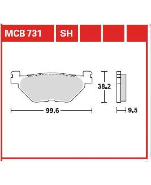 Тормозные колодки TRW YAMAHA FJR, TDM, XT, XV, XVS 900-1900 2001-