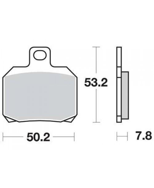 Тормозные колодки TRW MCB700
