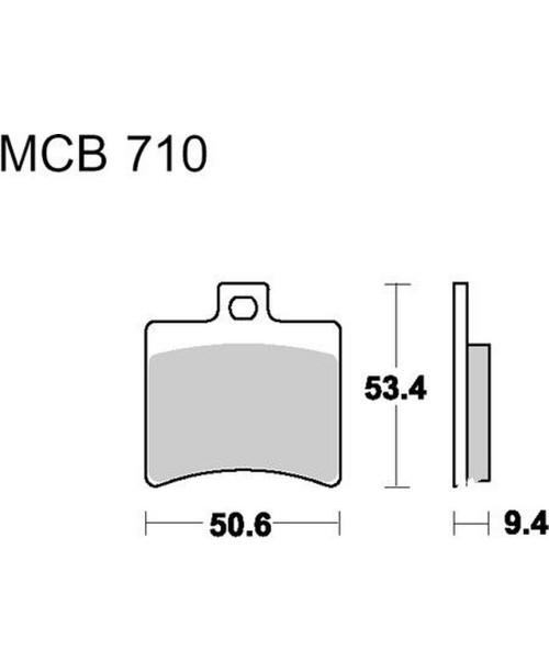 Тормозные колодки TRW  Lucas MCB710