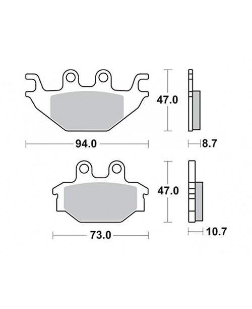 Тормозные колодки TRW Lucas MCB760SI
