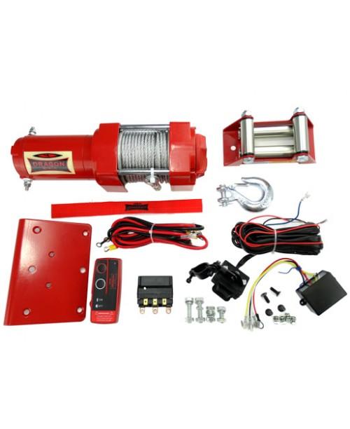 Лебедка электрическая для ATV DRAGON Winch DWH3500ST - металический трос 15м