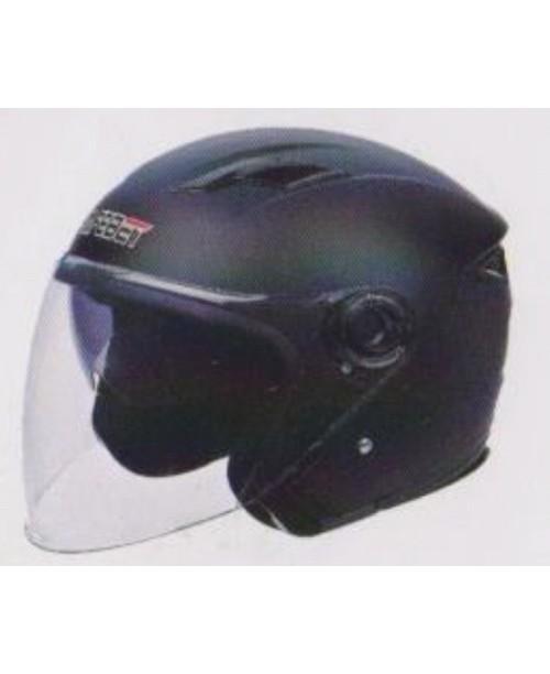 Шлем SAFEBET HF-223 скутерный  с очками черный мат  разм M
