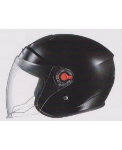 Шлем SAFEBET HF-215 скутерный черный   разм L