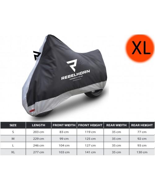 Накидка для мотоцикла Rebel Horn Black/Silver Size XL