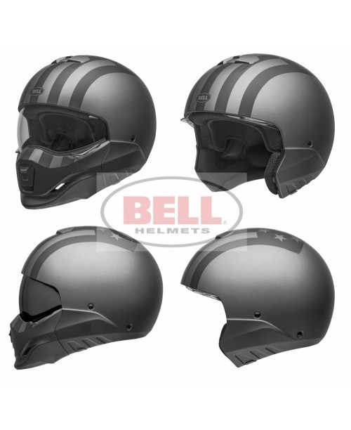 Шлем BELL BROOZER FREE RIDE MATTE GREY/BLACK разм:  M