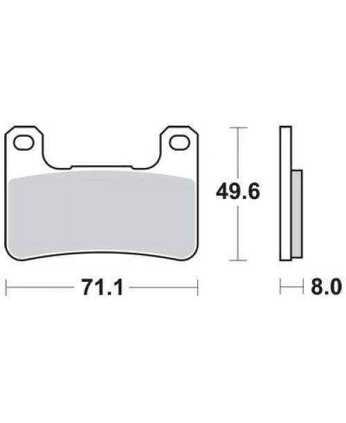 Тормозные колодки TRW MCB752SV