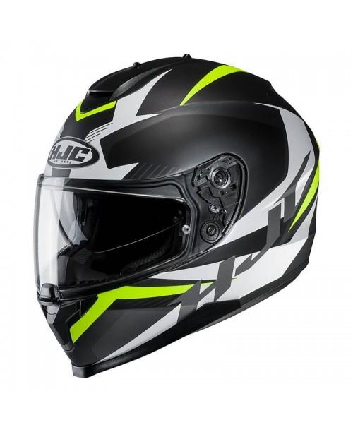Шлем HJC C70 TROKY BLACK/FLO GREEN L