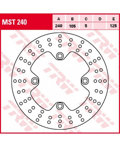 Диск тормозной передний, stała, 240/105/5mm, liczba дыроочек mocujących-4, 10,5/125mm