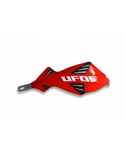 Защита рук UFO DISCOVER  с алюминиевым каркасом , для руля диам 22 мм, цвет красный